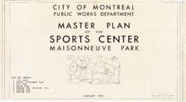 Master plan of the sports center, Maisonneuve park. - 1957