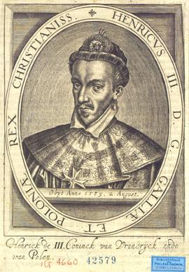 Henricus III D. G. Galliae et Poloniae Rex Christianiss : Obÿt Anno 1589, 2 august . - [16-]