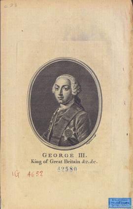 George III : King of Great Britain &c. &c. / Grignion Sculp. . - [18-]