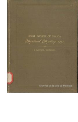 Royal Society of Canada : Hand-Book for the use of members and visitors / Royal Society of Canada...