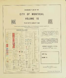 Insurance plan of city of Montreal, volume 10 / Underwriter's Survey Bureau Limited . - 1962
