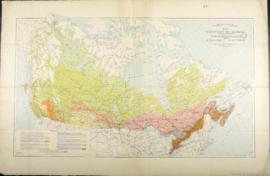 Map of the Dominion of Canada exclusive of northern regions indicating Vegetation and Forest Cove...