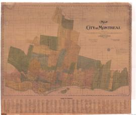 1913-8: Map of the City of Montreal including cities of Westmount, Outremont, Verdun, Maisonneuve...