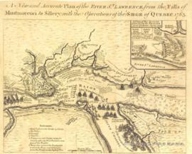 A New and Accurate Plan of the River St. Lawrence, from the Falls of Montmorenci to Sillery with the Operations of the Siege of Quebec. -1763