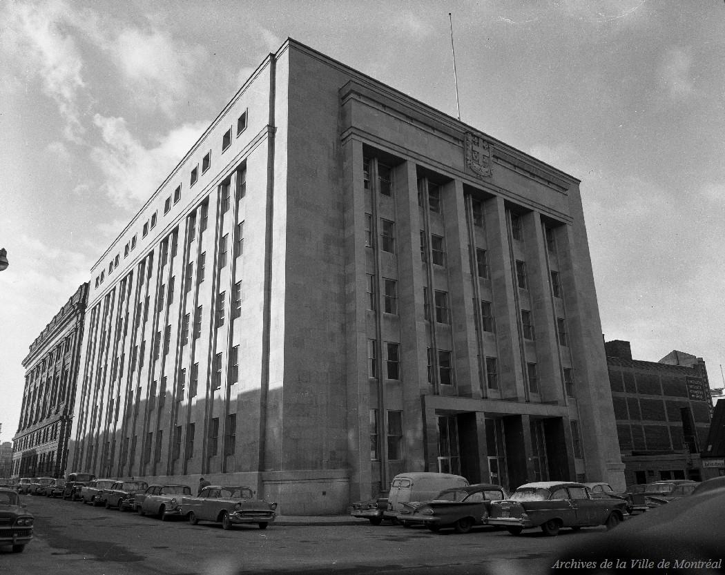 Quartier général de la police, Annexe de l'hôtel de ville, 1959, VM94-Z1536-01