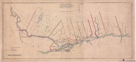 1868-1: Plan shewing [sic] proposed route for northern colonization railway from the City of Mont...