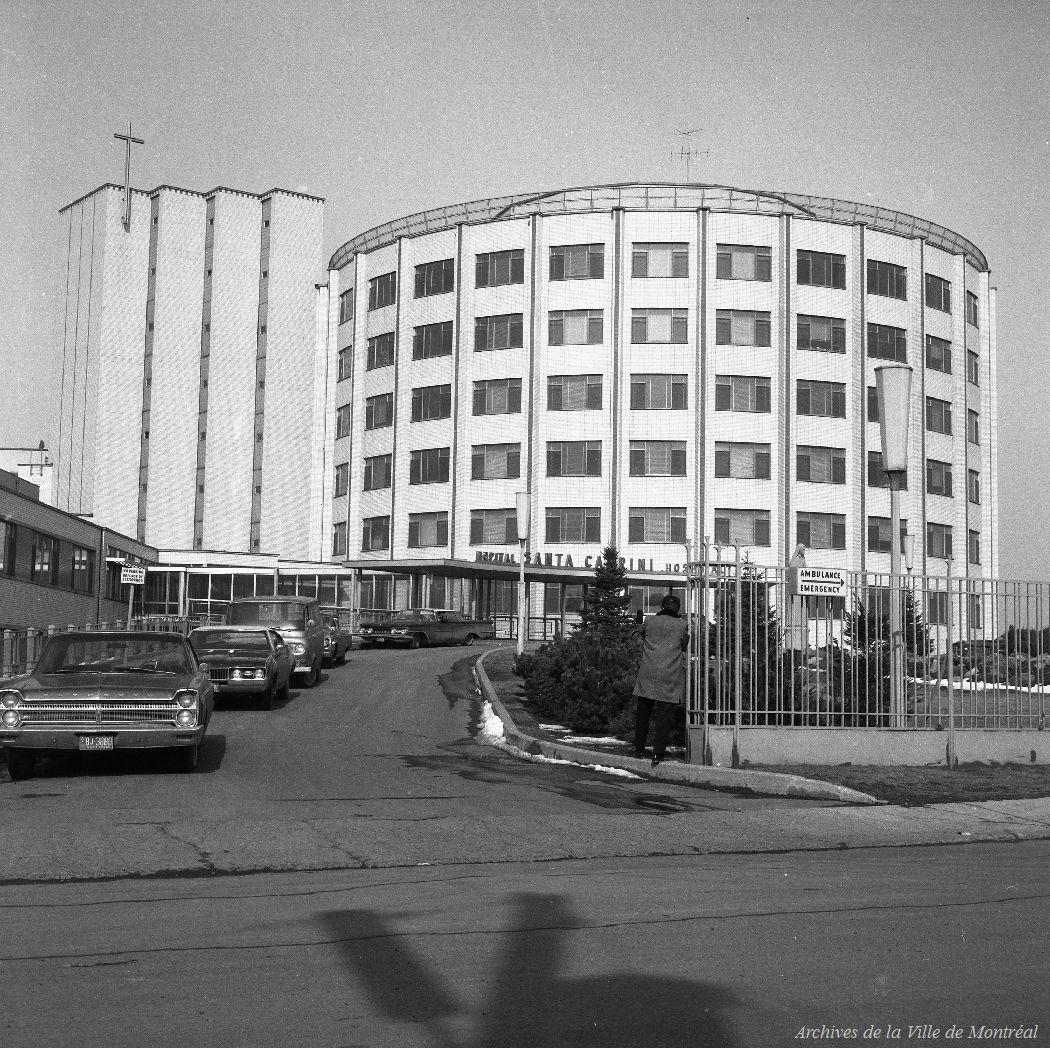 Hôpital Santa Cabrini, rue Saint-Zotique est - 26 mars 1968 VM94-A0523-005