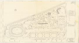 Master plan of the sport center, Maisonneuve park : Ligthing plan - 1957