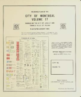 Insurance plan of city of Montreal, volume 17 / Underwriter's Survey Bureau Limited . - 1963