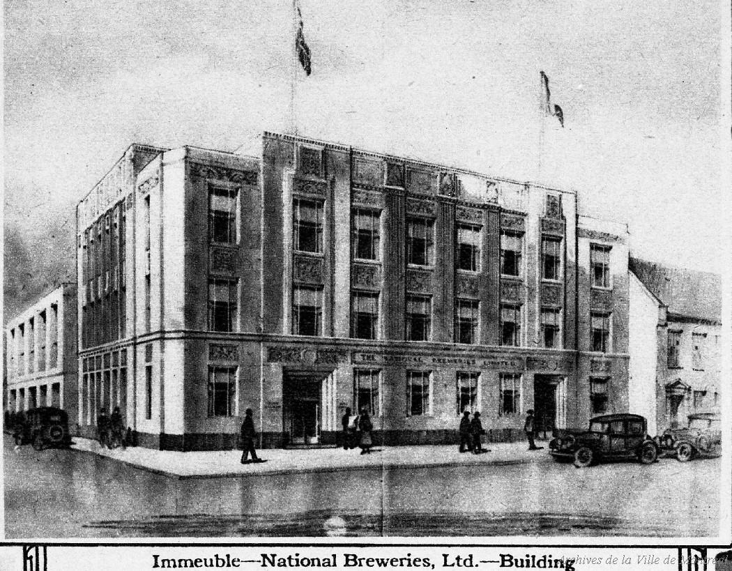 Immeuble National Breweries, extrait de brochure « Ce que Camilien Houde a accompli en deux ans », 1932, [reproduction 1969], VM94-Z1861-151