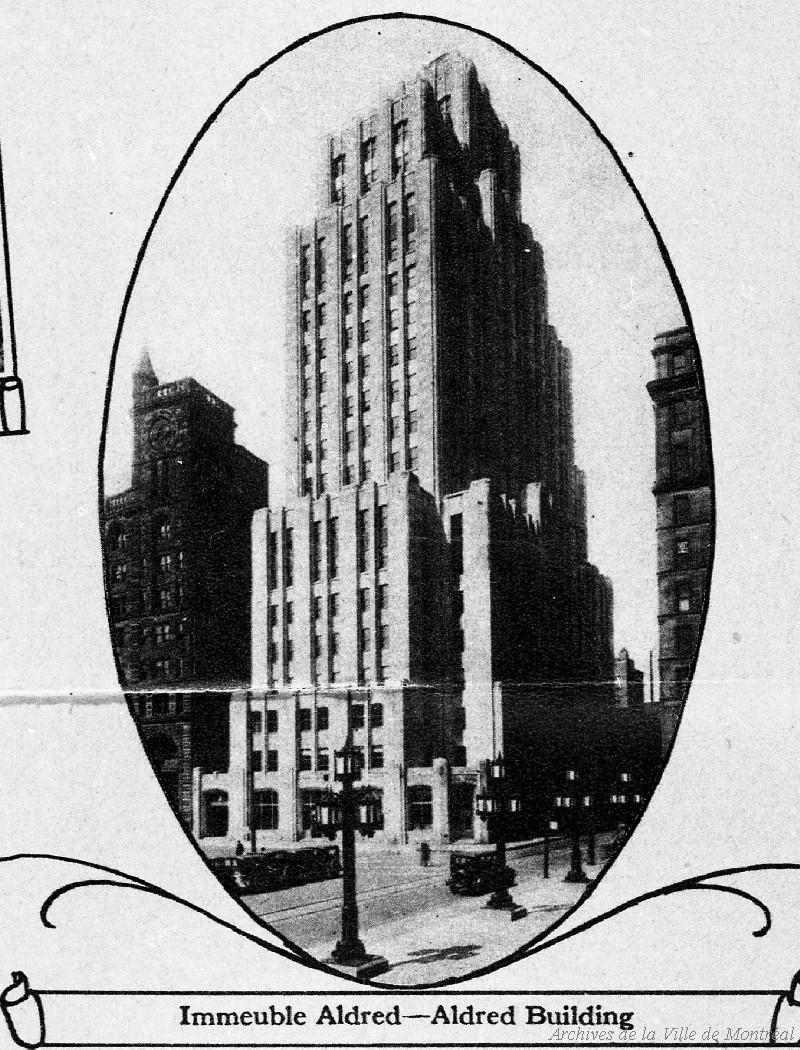 Immeuble Aldred, extrait de brochure « Ce que Camilien Houde a accompli en deux ans », 1932, [reproduction 1969], VM94-Z1861-144