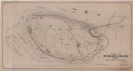 General Plan St-Helen's Island showing water mains and sewers . - 21 juillet 1937