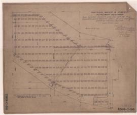 Outremont Reservoir - Plan showing property line and outline of excavation, giving present levels...