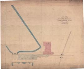 Plan showing the sites of the wheel house and the proposed steam pumping house for the Montreal W...