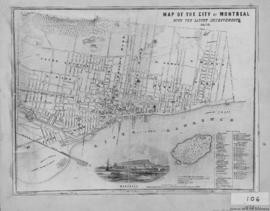 1853-1: Map of the City of Montreal with the latest improvements. - 1853