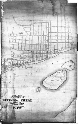 1877-5: Plan of the City of Montreal showing the sewerage system : Completed up to date 1877. - 1877