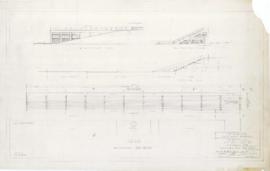Master plan of the sport center, Maisonneuve park :  Swimming pool bleachers. - 1957