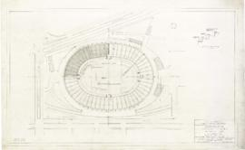 Master plan of the sports center, Maisonneuve park : Plan at top level - 1957