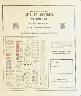Insurance plan of city of Montreal, volume 13 / Underwriter's Survey Bureau Limited . - 1953 (rév...