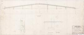 Golf municipal, preliminary desing of a pedestrian bridge. - 31 août 1953