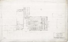 Master plan of the sport center, Maisonneuve park : Bath house - 1957