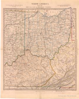 North America Sheet VIII. Ohio with parts of Kentucky, Virginia and Indiana. -1853
