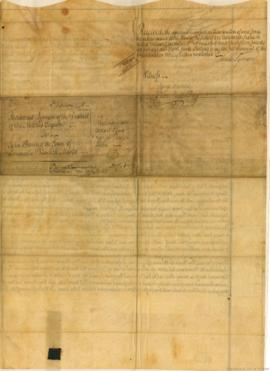 Contrat de vente de 1000 acres de terres à West Florida . - 1775