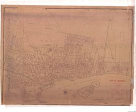 1884-2: City of Montreal showing the location of the sewers : Compiled by Alfred Brittain Assist,...