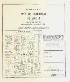 Insurance plan of city of Montreal, volume 9 / Underwriter's Survey Bureau Limited . - 1953 (révi...