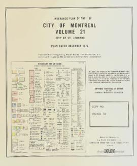 Insurance plan of city of Montreal, volume 21 / Underwriter's Survey Bureau Limited . - 1972