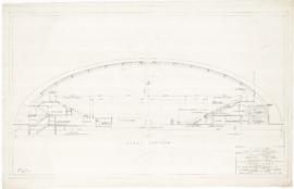 Master plan of the sport center, Maisonneuve park : Hockey arena. - 1957
