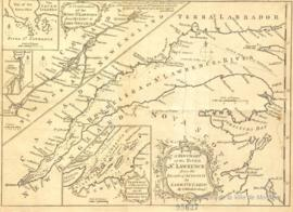 A New Chart of the River St. Lawrence from the Island of Anticosti to Lake Ontario. By T. Kitchin Geog.  - [vers 1780]