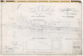 Golf municipal, service area : Grading & detail plan. - 8 octobre 1954