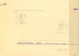 The master plan and working drawings for the Children's zoo - Lafontaine park. - [Vers le 1 mai 1...