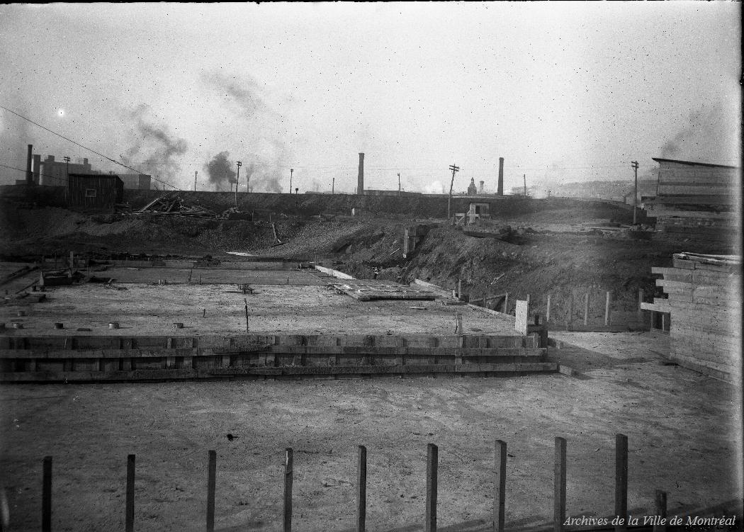 Construction de la nouvelle station de pompage Atwater : vue