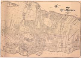 1922-1: Map of the city of Montreal and surroundings / Compiled by E.P.J. Courval, chief draughts...
