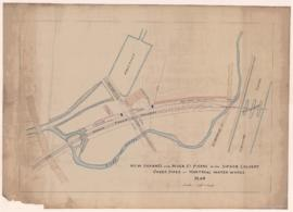 New channel for river St-Pierre with siphon culvert under pipes of Montreal Water Works . - [s.d.]