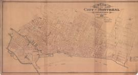 Plan of the City of Montreal. Location of sewers. . - 1892