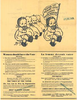 Please let Mummy vote! = Laissez voter maman! . - [entre 1930 et 1940]