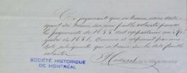 Billets de P. Cadoret à Louis-Hippolyte La Fontaine . - [186-]