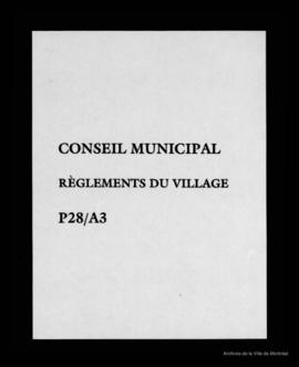 Règlements du village. - 1878-1895