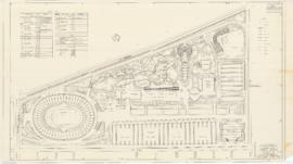 Master plan of the sport center, Maisonneuve park : Planting plan - 1957