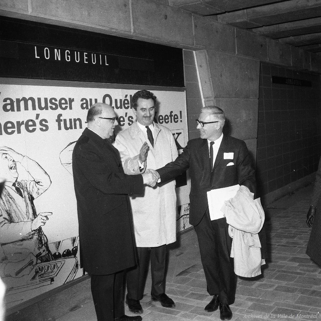 Inauguration de la station de Longueuil, 14 mars 1967, VM94-M257-012