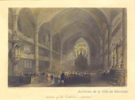 Interior of the Cathedral, Montreal. - [1841]