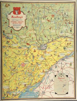 Brading's Vacation Map Published to show the Tourist Attractions of the Ottawa Valley and Ea...