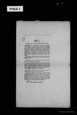Documents constitutifs. - 1912-1916